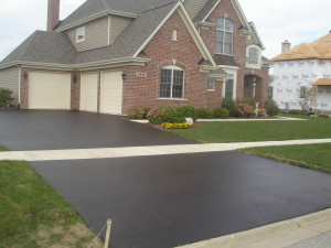 DRIVEWAY SEALED AND READY FOR BEEN PROTECTED AGAINST RAIN AND SNOW