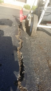 WE CAN HELP TO HAVE THOSE CRACKS SEALED A LOT BETTER USING OUR HOT RUBBER PRODUCT APPLIED SMOOTH AND NEAT